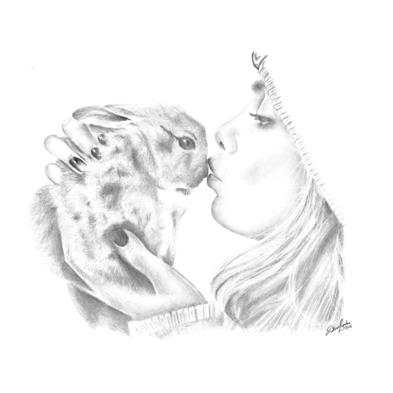 cara and Cecil delivigne kiss drawing