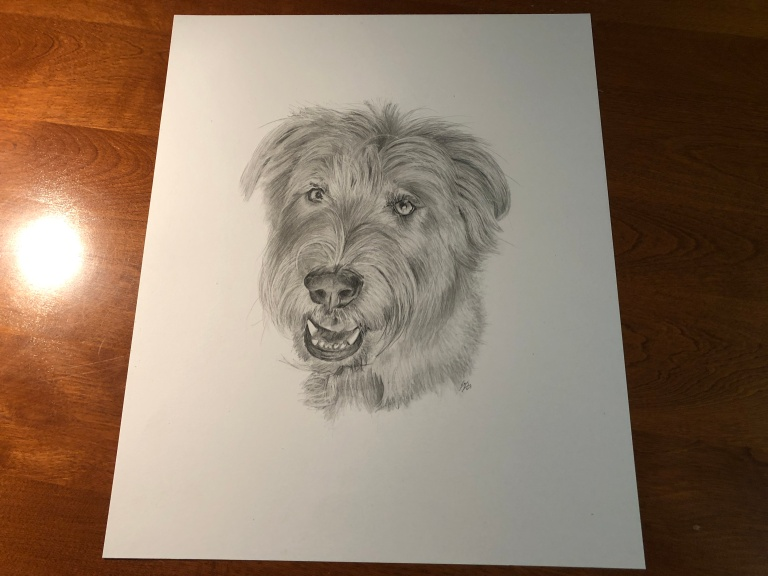 Henry dog drawing table
